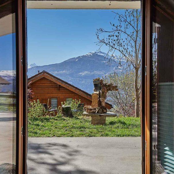 La Forge de Diogne - Vue de votre chambre sur les Alpes