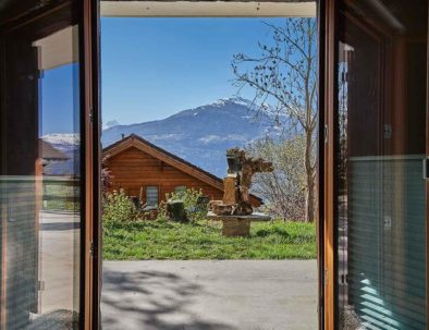 La Forge de Diogne - Sicht von eurem Schlafzimmer auf den Alpen